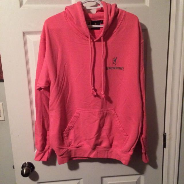 Women's Pink Browning Sweater Size Medium