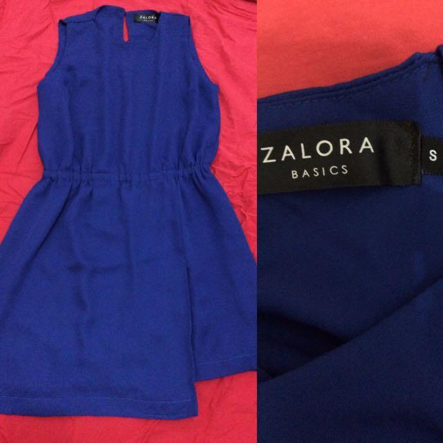 Zalora Basic Dress Royal Blue