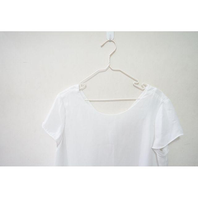 ZARA白色設計感露背上衣