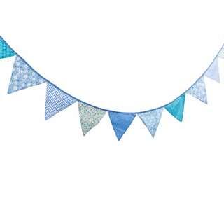 🚚 鄉村風藍色棉布三角旗/野餐/帳篷/派對/婚禮佈置/兒童房間/居家佈置