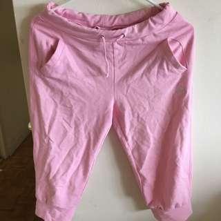 Pink Adidas Knee High Jogger