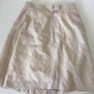 Beige Business Skirt