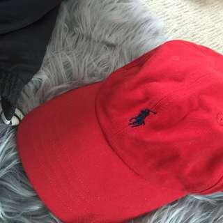Red Ralph Lauren Hat Authentic