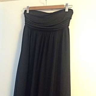 Black Bandeau Maxi Dress