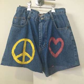 VINTAGE HIGH WAIST LOOSE FIT SHORTS