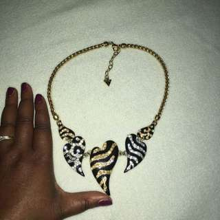 Guess Animal Heart Necklace