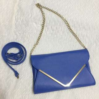 Blue And Gold Envelope Purse