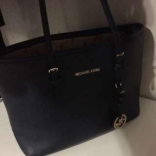 Navy Blue Michael Kors Handbag - FAKE