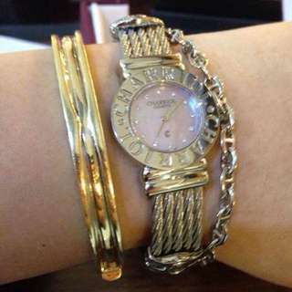 Philippe Charriol St.Tropez Ladies,mother of pearl dial with diamonds