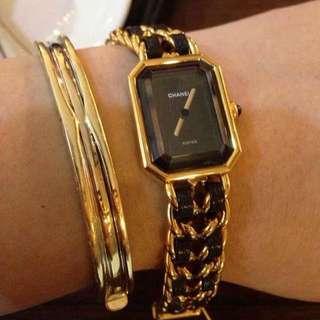 Chanel Premiere Watch  Gold Hardware Medium