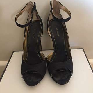 Nine West Black Strappy Shoes