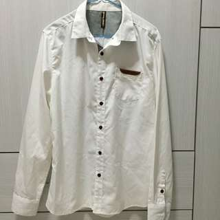 Natural Project White Long Sleeve Shirt