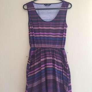 Miss Selfridge Purple Stripes