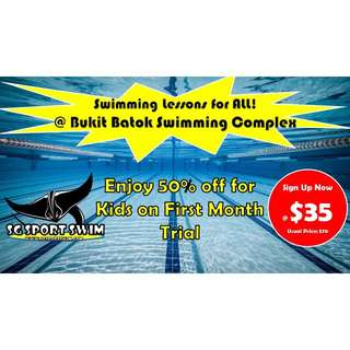 Promotion for Swimming Lesson at Bukit Batok Swimming Complex