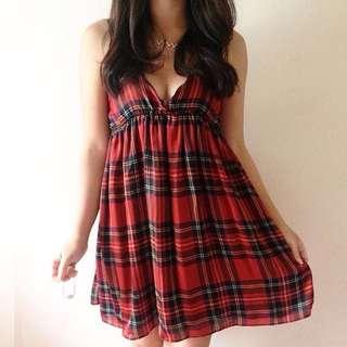 Elegant Red Black Satin Dress 💞💞