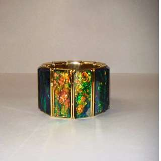 Stunning Resin Multi Tone Bracelet in Green-Blue Hue