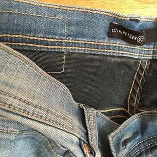 Mens Skinny Spray On Jeans.Size 34
