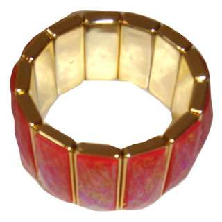 Stunning Resin Multi Tone Bracelet, Orange and Red Hue