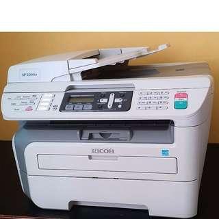 Ricoh Aficio™ SP 1200SF -  Multifunction 🔸All-in-ONE🔸Laser Printer ( B/W )