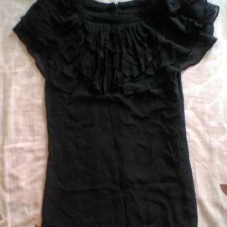 Black Top Slightly Sleeveless - RM 30 - XS