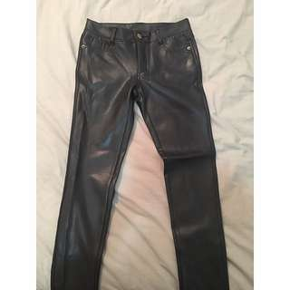 Supre Black Wet Look Jeggings