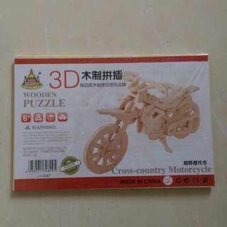 木制模型  越野摩托車
