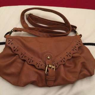 Brown Bag With Detachable Strap