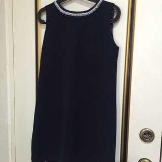 Mixxo藏藍時尚小洋裝