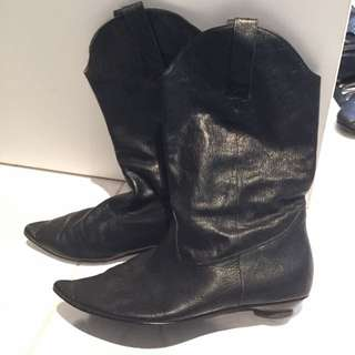 Zoe Wittner Leather Boots | Size 38