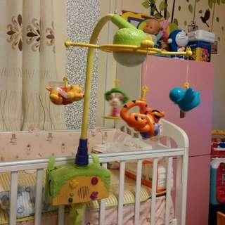 二合一床鈴,嬰兒玩具套裝,音樂盒/BB床/Winnie The Pooh/床上用品