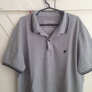 Grey Giordano Polo Shirt