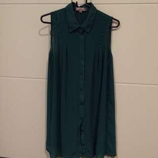 Green Chiffon Shirt