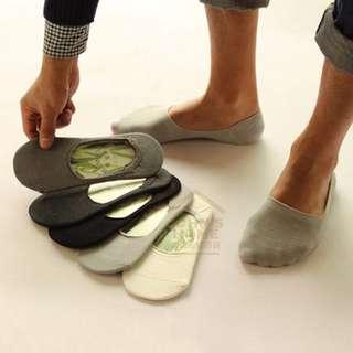 約翰家庭百貨》【VA010】純色男士竹纖維隱形襪 男襪 豆豆鞋船型鞋福樂鞋淺口素色船襪 矽膠防掉跟設計 3色可選