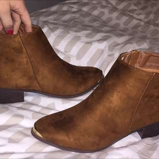 Western Style Low Ankle Boots