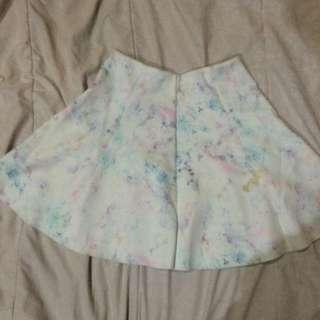 Rainbow Marble Berhska Skirt