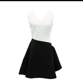 Dainty Black White Dolly Dress