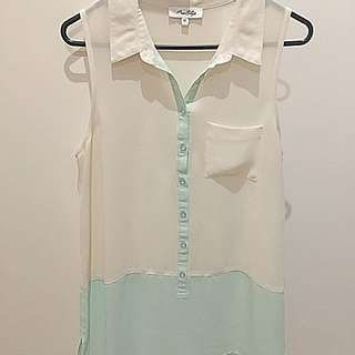 Miss Shop Sheer Shirt Size 12