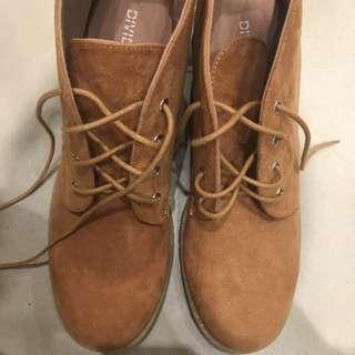 Boots cokelat H&M