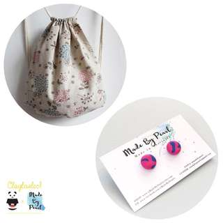 Dandelions of the Sky Bundle (Bag + Earrings)