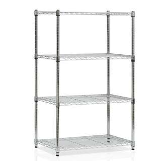 RESERVED - Stainless Steel Storage Shelving - 4 Levels