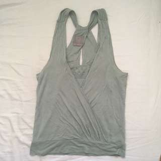 light green tank top