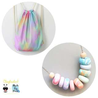 Paddlepop Swirl Bundle: Ice Cream (Bag + Necklace)