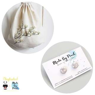 Spring Elegance Bundle (Bag + Earrings)