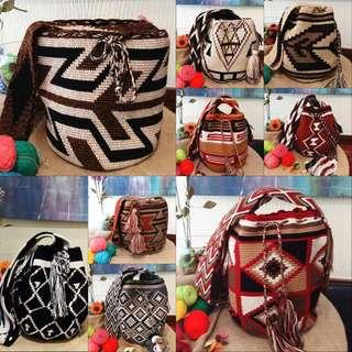 Pita's歐美女星街拍款哥倫比亞手工彩色編織包wayuu大款民俗風波希米亞嬉皮必備流蘇包預購品