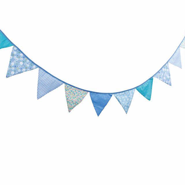 鄉村風藍色棉布三角旗/野餐/帳篷/派對/婚禮佈置/兒童房間/居家佈置