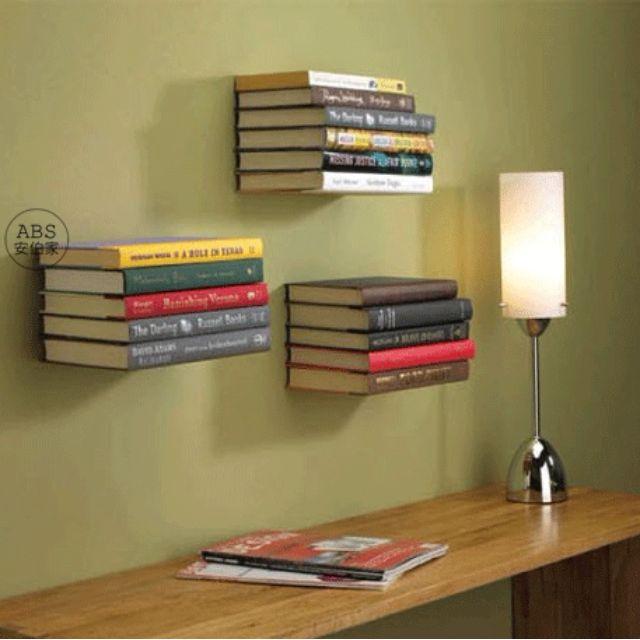 【ABS安伯家】北歐 簡約風 漂浮隱形書架 不鏽鋼展示書架 床頭櫃 設計師愛用款