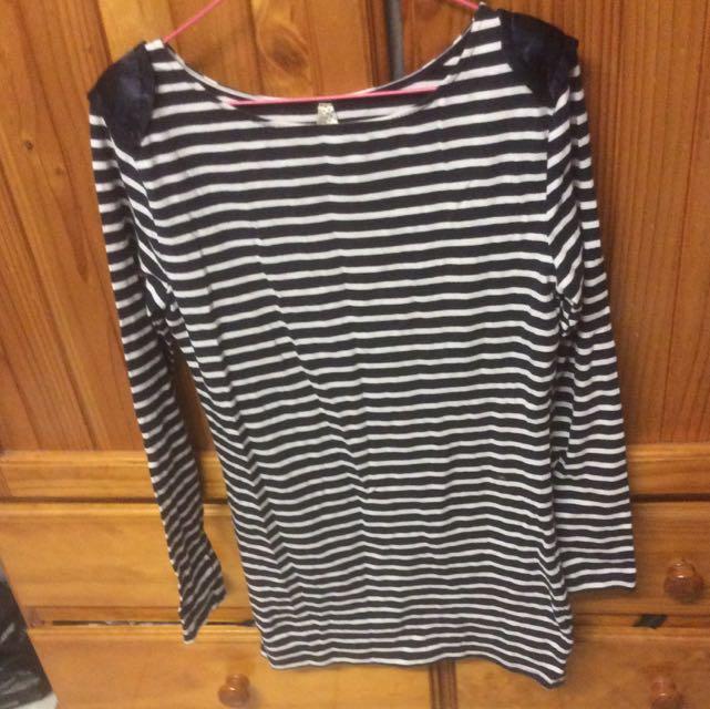 Ally Long sleeve Striped Mini Dress