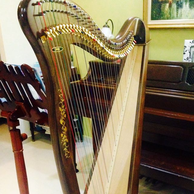 Rental/Sale] Beautiful Aoyama 36-string Lever Harp, Music