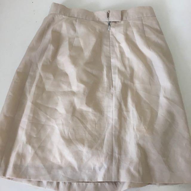 Beige Business Skirt
