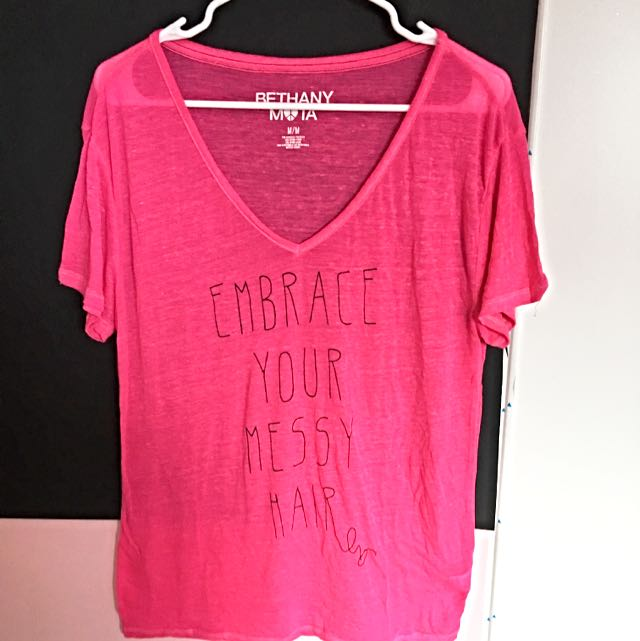 Bethany Mota Embrace Your Messy Hair T-shirt